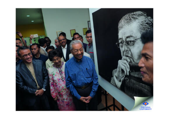 Tun Dr. Mahathir visits the Tun M: A Forever Legacy art exhibition at Perdana University