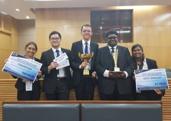 ATC's Success in the LAWASIA Moot Competition 2019 & KL Bar – Lincoln's Alumni Moot Court Competition 2019