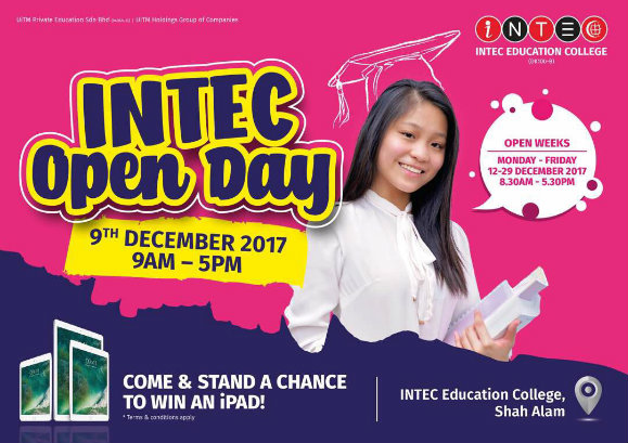 INTEC Open Day - Stand a Chance to Win an Ipad