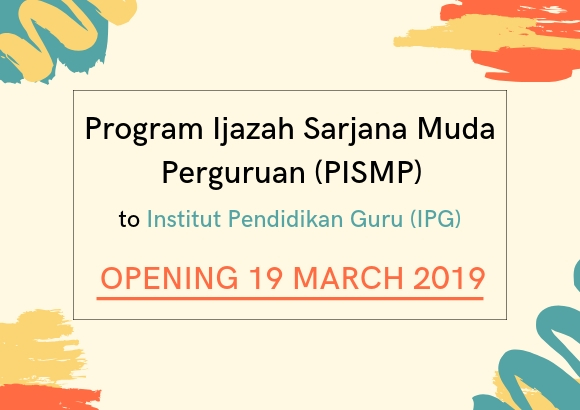 PISMP 2019 Applications to Open on March 19, 2019