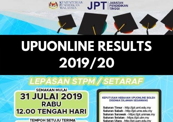 UPUOnline  Results for Lepasan STPM/Setaraf 2019/20 Out 31st July 2019 at 12 PM