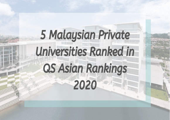 5 Malaysian Private Universities Ranked in QS Asian Rankings 2020