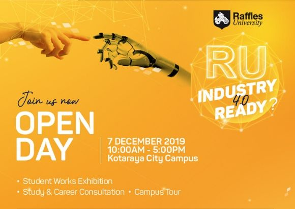 Join in Raffles University's Open Day 2019