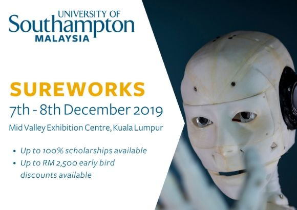 Visit the University of Southampton Malaysia at the Sureworks Education & Further Studies Fair This Weekend