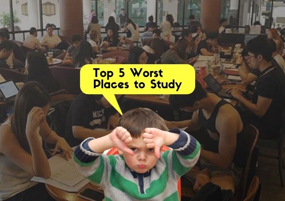 Top Five Worst Places to Study, Think Twice Before You Go