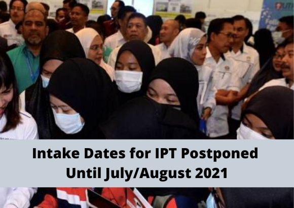 Exclusive Press Conference by Ministry of Education - Intake Dates for IPT Postponed Until July/August 2021