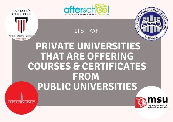 List of Private Universities That Are Offering Courses & Certificates from Public Universities