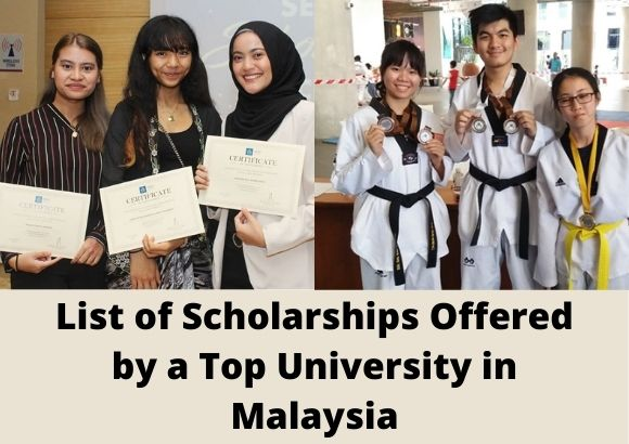 List of Scholarships Offered by a Top University in Malaysia