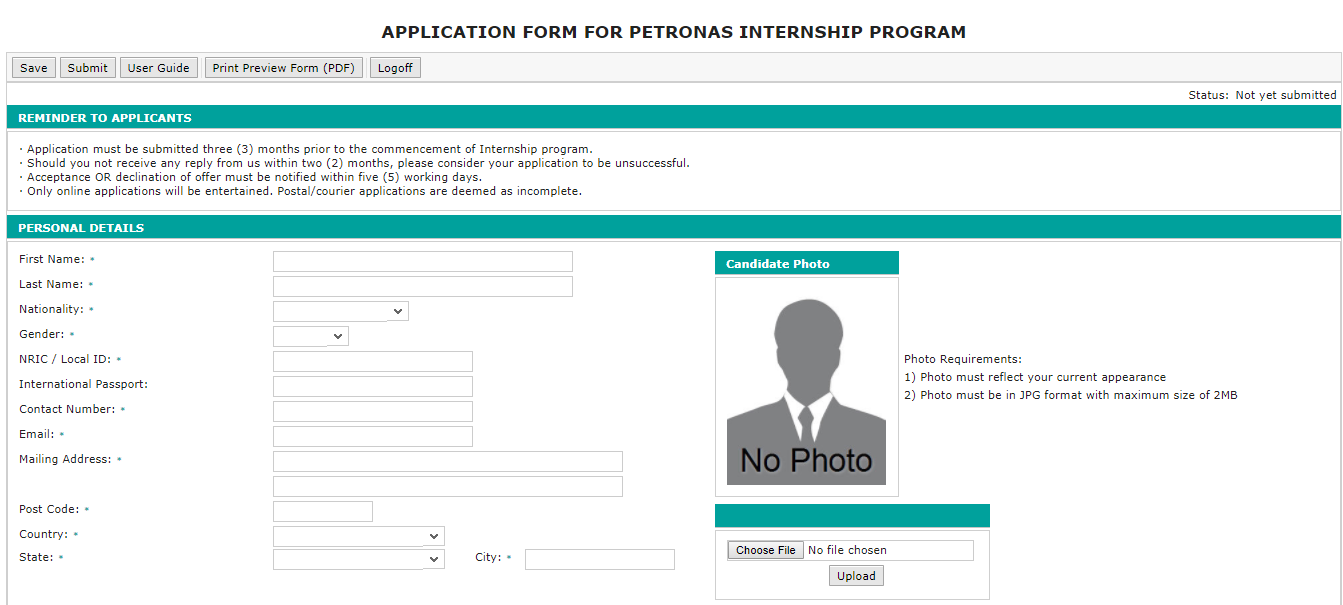final report internship petronas Undergraduates are monitored via visits by the university lecturer, student log book, a final report prepared by the student and on-going and final evaluation by a supervisor at the industry the internship period for the students of the faculty ranges from eight to 15 weeks, according to the requirements of the programme.