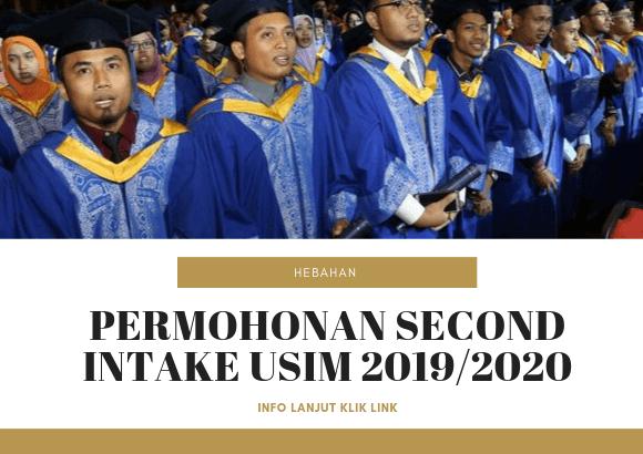 Permohonan Second Intake Universiti Sains Islam Malaysia (USIM)