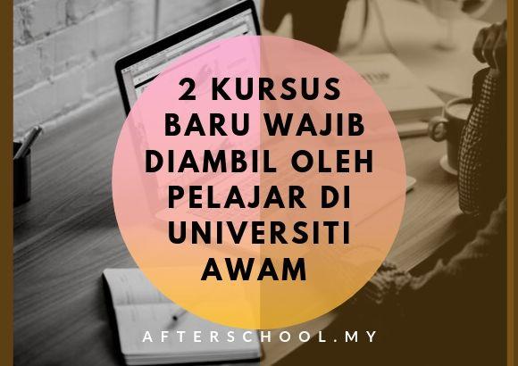 2 Kursus Baru Diperkenal & Wajib Diambil oleh Pelajar di Universiti Awam- Dr. Maszlee Malik, MPM
