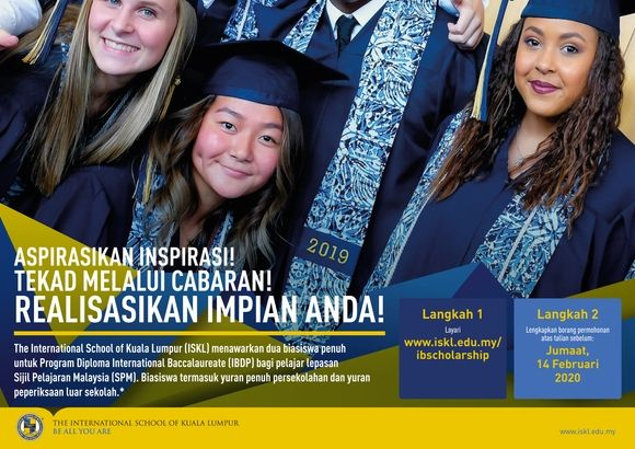 ISKL Tawar Biasiswa Penuh Untuk Lepasan SPM Bagi Program Diploma International Baccalaureate (IBDP)
