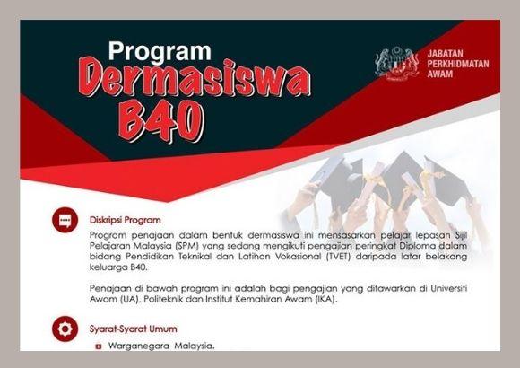 Pelajar yang Berjaya Ditawarkan Dermasiswa JPA B40 Wajib Terima Tawaran Sebelum 13 September