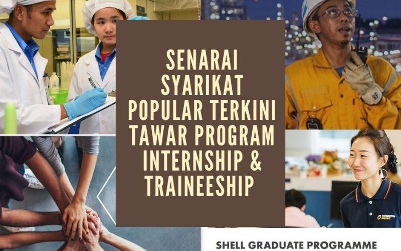 Senarai Syarikat Besar Terkini yang Tawar Program Internship & Traineeship
