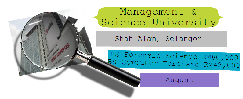Forensic Science course at MSU University Shah Alam