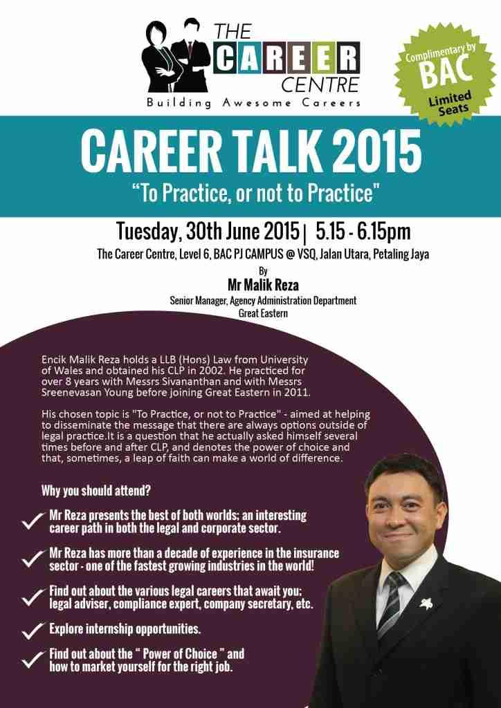 Career Talk_Mr Malik Reza_Social Media