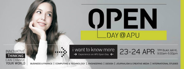 APU Open Day Banner