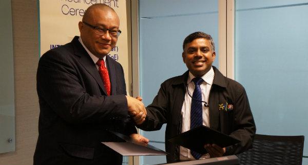 An exchange of information between APU and IBM