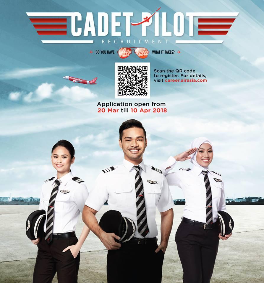 Air Asia's Cadet Pilot Programme 2018 is Now Open