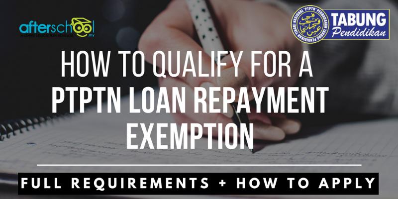PTPTN Loan Repayment Exemption