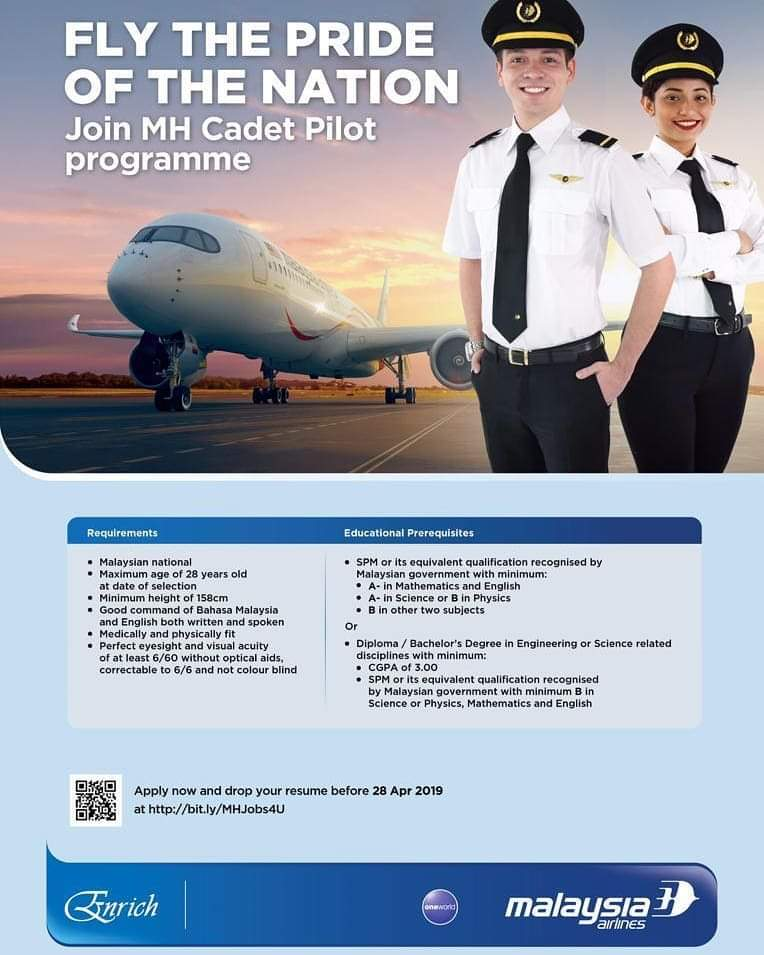 Join the Malaysia Airlines Cadet Pilot Programme 2019